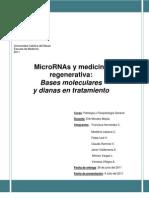 MicroRNA y Medicina Regenerativa