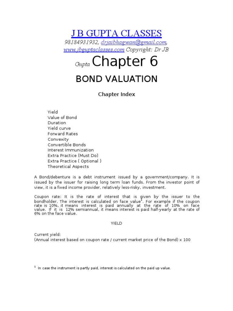 How to Calculate Bond Value and Current Yield advise