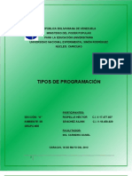TRABAJO DE PROGRAMACIÓN