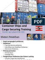 Container Ship and Cargo Securing (in Indonesian)