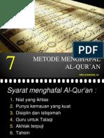Menghafal Al Quran