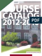Academy Catalog 2012-2013