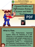 general profile and performance rating of science and mathematics teacher