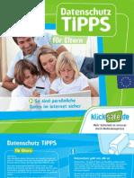 Klicksafe Flyer Datenschutz Eltern