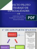 Proyecto Piloto de Trabajo de Especial Ida Des