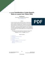Lishana.org - A Greek transliteration of Judeo-Spanish:Notes on a poem from Trikala (1885) - Rey Romero