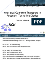 High Bias Quantum Transport in Resonant Tunneling Diodes