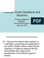 Example Exam - Solutions