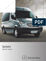 2011 Mercedes Benz Sprinter Operators Manual