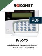 ProSys Installer Manual