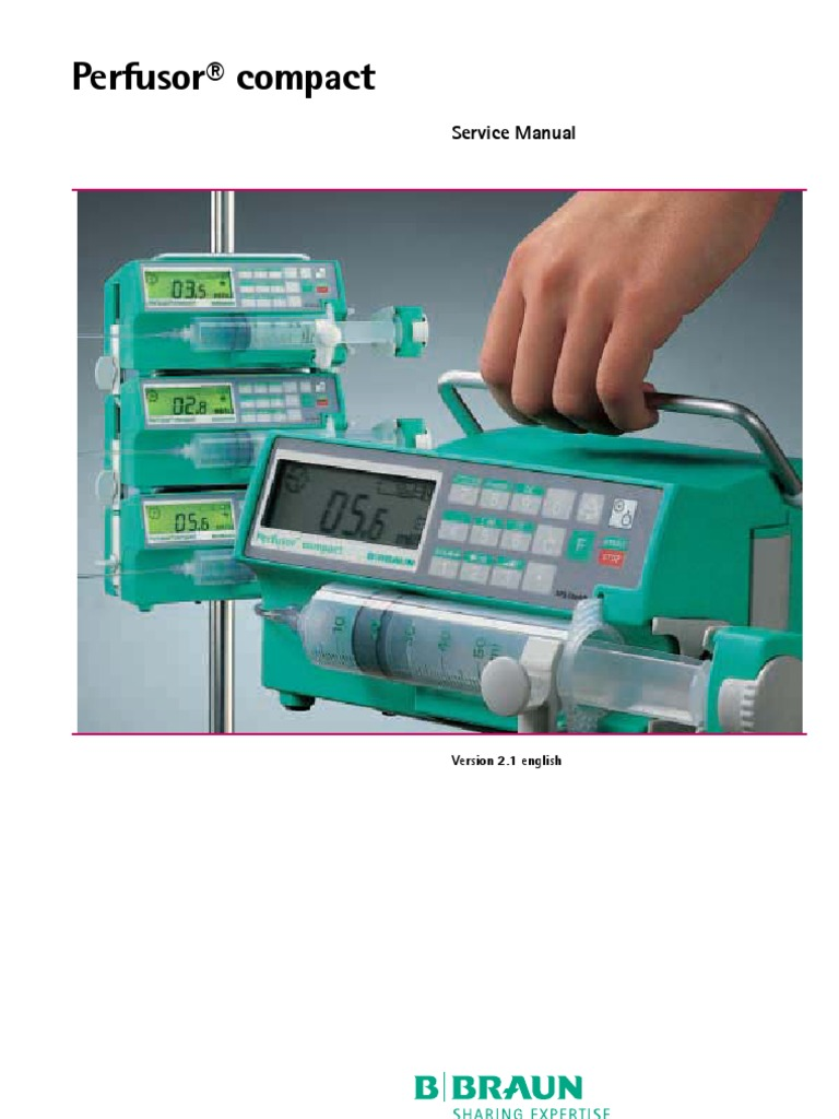 b braun perfusor compact service manual electrostatic discharge rh scribd com braun 3719 service manual braun 5414 service manual