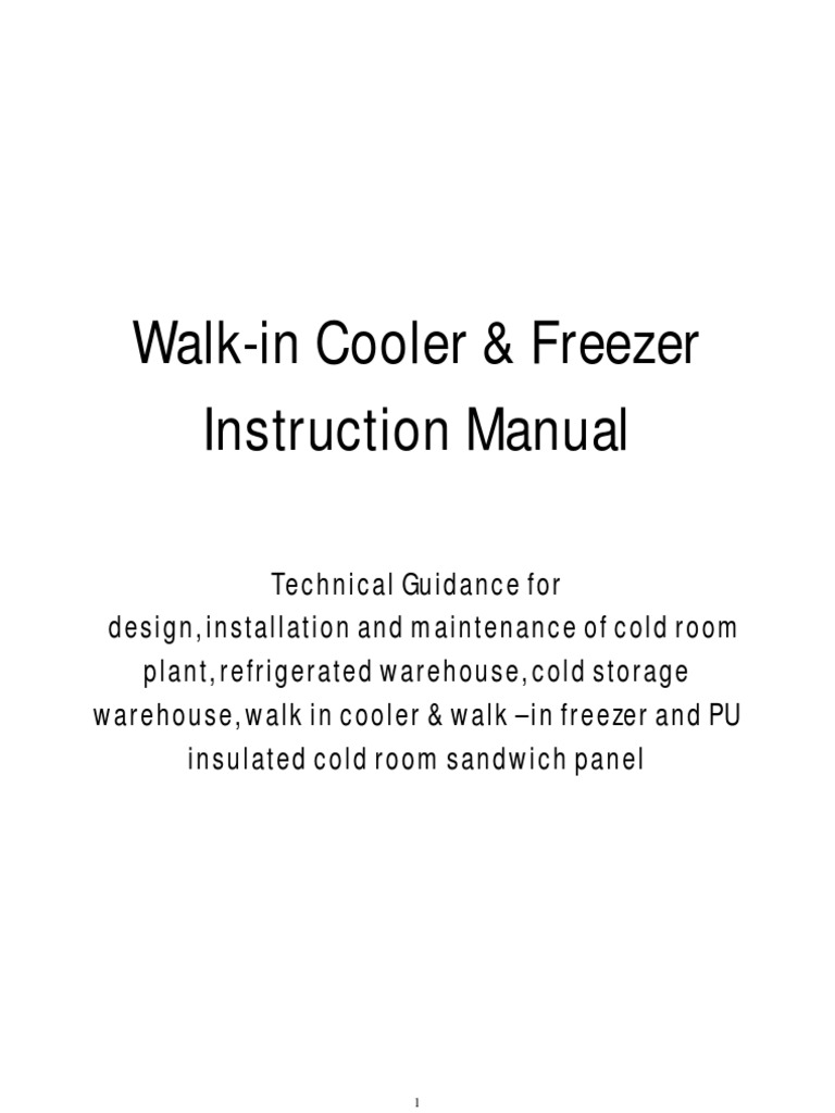 Walk-In Cooler & Freezer Cold Room Plant & Refrigerated Cold ...