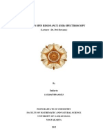 ELECTRON SPIN RESONANCE (ESR) SPECTROSCOPY