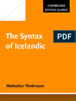 Syntax in Icelandic