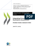 Integrating Formative and Summative Assessment