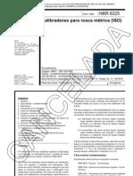 NBR 8225 - Calibradores Para Rosca Metrica (ISO) - Norma Cancelada