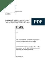 CREG de Verschillende Ondersteuningsmechanismen Voor Groene Stroom in Belgie