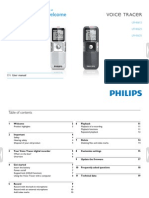 Philips Voice Tracer User Manual