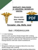 Post sty Pada Pasien Labioschizis Unilateral Incomplete Sinistra