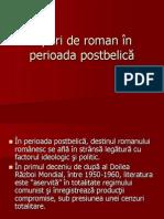Tipuri de roman în perioada postbelică