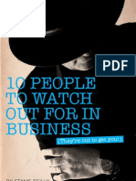 10 People You Want to Avoid in Business