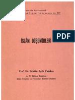 İSLAM DÜŞÜNÜRLERİ  Prof. Dr. İbrahim Agâh Çubukçu