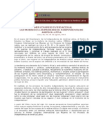Convocatoria Primer Congreso Internacional Mujeres Independencia América Latina
