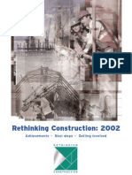 Rethinking Construction - 2002