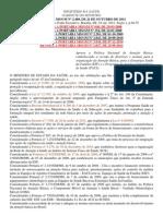 Portaria 2.488-2011 Politica de at Basica