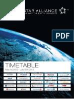 Star Alliance timetable / schedule - 2012/05/01 20120501
