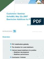 Baerlocher PVC Profiles 2007 Sofia