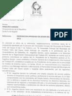 Concejo Municipal de Pradera - Valle Apoya la Candidatura de Angelino Garzón a la OIT