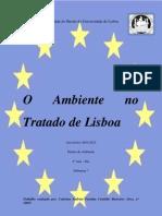 O Ambiente No Tratado de Lisboa