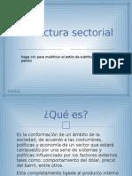 Estructura sectorial