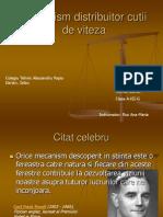 Mecanism Distribuitor Cutii de Viteza