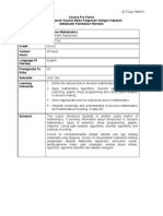 Proforma Mte 3104 - Decision Mathematics