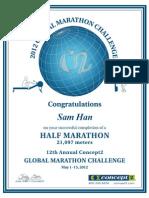 2012 05 15 Concept2 Half Marathon Challenge Certificate