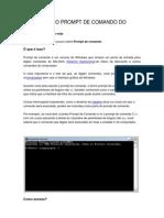 Como Usar o Prompt de Comando Do Windows