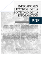 ECHEVERRÍA, Javier - Indicadores Cualitativos de la Sociedad de la información