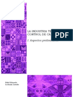 I. La industria textil y su control de calidad