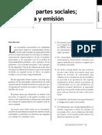 Acciones y Partes Sociales, Naturaleza y Emision