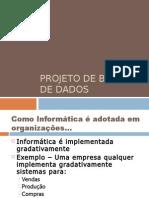 PBD01 - Introducao e Processo