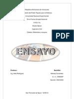 ENSAYO materiales
