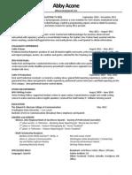 Online Copy Resume