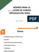 Est and Ares Para La Ejecucion de Cursos Virtuales Del Sena