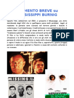 Commento Breve a Mississippi Burnig