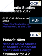 OCR Conference Notes on Evaluation Questions