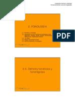 Deficit Fonetico vs Fonologico