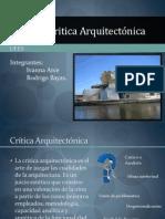 Teoría y Critica Arquitectónica