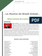 La Musica de Brasil Actual . - Estilos